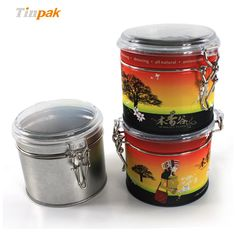 Round tea tin can with airtight lid are hot selling on Tinpak. This tea tin can with high quality and factory price will be the best choice for your herba tea storage. See more at http://www.tinpak.us/Products/teatinboxwithclearli.html