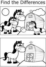 Fark bulma There are several differences that can be found between the two pictures of horses on a farm in this printable coloring page for children. Preschool Worksheets, Preschool Learning, Preschool Activities, Writing Worksheets, Find The Difference Pictures, Horse Coloring Pages, Hidden Pictures, Art Drawings For Kids, Diy Blog