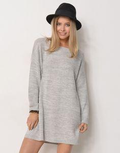 Knitted oversized dress.