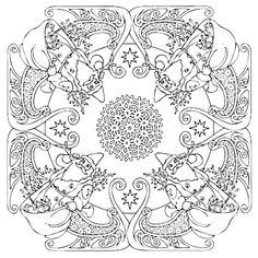 Mandala 600, Christmas Designs 3D Coloring Book, Dover Publications