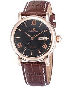 KS KS238 Herren Armbanduhr Automatik Mechanisch mit Datumanzeige Armband aus Leder - http://on-line-kaufen.de/ks/ks-ks238-herren-armbanduhr-automatik-mechanisch