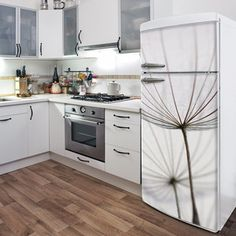 What a great way to cover and ugly, old fridge! ADzif  Fierce Fridge & Dishwasher Decals