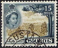 Stamps Cyprus 1955 New Currency SG 177 Fine Used Scott 172 Other Cyprus Stamps HERE