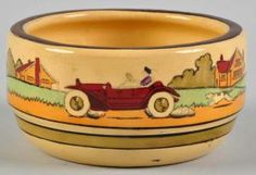 Roseville Pottery Identification and Price Guide: Roseville Tourist Pattern Bowl Hull Pottery, Roseville Pottery, Mccoy Pottery, Vintage Pottery, Pottery Art, Mission Style Homes, Talavera Pottery, Antique China, Craftsman Style
