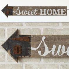 Sweet Home Arrow Wall Sign Apocalypse Survival Kit, Arrow Signs, Antique Farmhouse, Farmhouse Wall Decor, Wall Signs, Diy Home Decor, Sweet Home, Decor Ideas, Etsy Shop