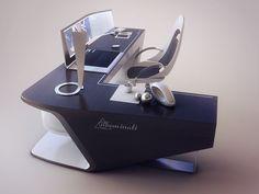 Modern desk design on Behance Gaming Room Setup, Desk Setup, Gaming Desk, Bureau Design, Simple Computer Desk, Modern Office Desk, Office Table, Office Furniture Design, Smart Furniture