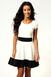 Claire Colour Block Skater Dress