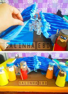 Salinha EBD: Travessia do Mar vermelho Kids Sunday School Lessons, Sunday School Activities, Bible Activities, Activity Games, Older Kids Crafts, Bible Crafts For Kids, Bible Study For Kids, Diy For Kids, Bible Heroes