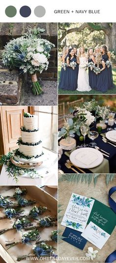 navy blue and greenery wedding color inspiration for 2019 fall wedding corsage / fall wedding boutineers / fall wedding burgundy / wedding fall / wedding colors Rustic Wedding Colors, Fall Wedding Colors, Color Schemes For Wedding, Rustic Colors, Wedding Color Themes, Blue Wedding Decorations, Wedding Themes For Summer, Wedding Ideas Green, Wedding Theme Ideas Unique