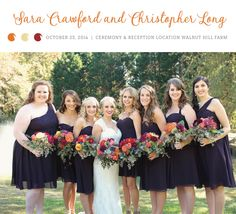 Love these deep purple bridesmaid gowns. See more from this elegant fall wedding in Georgia at Walnut Hill Farms! Bridal attire by @monicasbridal, pics by Loni Elizabeth Photography | The Pink Bride® www.thepinkbride.com