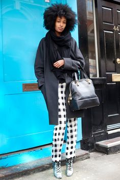 Graphic Pants by #juliaSarrJamois #streetstyle genious. fashion editor of what magazine