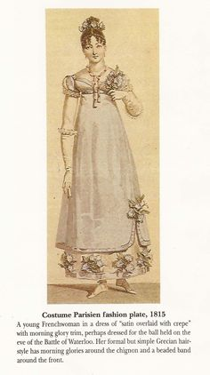 Costume Parisien fashion plate, 1815