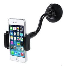 Brainwizz® – Support Téléphone Voiture Portable Smartphone Universel – Fixation Ventouse sur Pare-brise – Avec bouton de desserage…