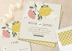 minted wedding invitations | 100 Layer Cake love the envelope