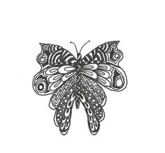 Butterfly zentangle,  by Shelagh O.