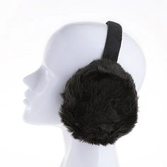 Amazing Funny Park Tent Illustration Winter Earmuffs Ear Warmers Faux Fur Foldable Plush Outdoor Gift