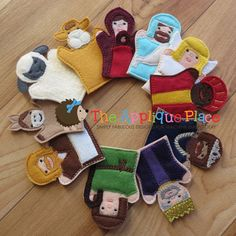Set of 11 Nativity *** Finger Puppets *** In The Hoop Machine Embroidery Applique Designs on Etsy, $22.00