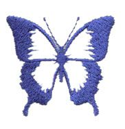 Pinnacle Embroidery Patterns Embroidery Design: Blue Butterfly 1.58 inches H x 1.46 inches W