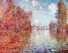 Reproduction de Monet, Automne a Argenteuil. Tableau peint à la main dans nos ateliers. Peinture à l'huile sur toile.