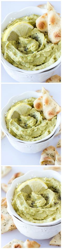 This homemade lemon pepper avocado hummus takes just a few ingredients and can be whipped up in minutes! Plus, these parmesan herb pita chips are seriously addicting.
