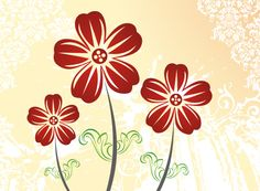 Autumn Flowers - Vector Graphic by DryIcons