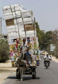 Overloaded transport / totem transport
