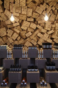 #Aesop pop up store at Merci by March Studio, #Paris store design