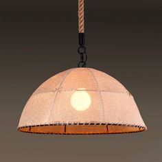 Hand-Crafted Linen 1-Light Hanging Pendant - Ceiling Lights - Lighting