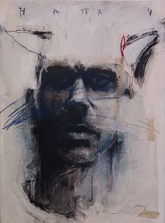 "Harry Ally, Harry, 2007.  Charcoal, pastel, acrylic on paper, 28 x 22""."