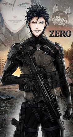 """Hey I leave you the beautiful, beautiful, cool and perfect Zero. Sexy Soldier Dress 7w7❤️❤️❤️❤️❤️❤️❤️❤️❤️❤️❤️❤️❤️❤️I hope you like it very much, hehehe 😆🤭✨❤️🙈 (The background, and the costume are not mine, they are from an anime called """"Genocidal Organ"""" I just edited ✨) #Otomegames #Attackofthedead #Geniusinc #ZeroGeniusinc Cool Anime Guys, Handsome Anime Guys, Character Portraits, Character Art, Castlevania Anime, Rouge The Bat, Dark Anime Girl, Story Characters, Anime Oc"""