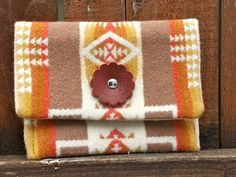 Pendleton Wool Fabric Simple Wallet Cardholder by StarryGarden, $20.00