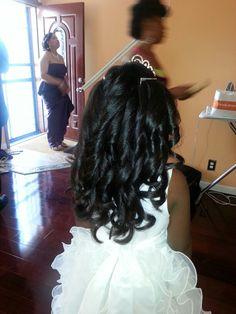 Flower girl curls
