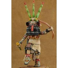 Genuine Hopi Indian Prickly Pear Cactus Kachina Doll by Milton Howard