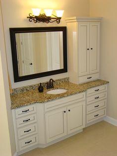Nice way to get extra storage in bathroom