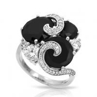 Andromeda black and white ring from Belle Etoile, Find this and more at Starnes Jewelers, www.starnesjewelers.com/ #starnes #belletoile #pearls #diamonds #ring