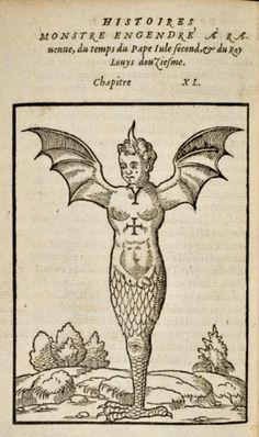 poisonwasthecure:    The Monster of Ravenna from Pierre Boaistuau's Histoiresprodigieuses ca. 1560