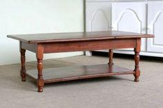 Wood Coffee Table With Shelf Antique Cherry Finish - farmhouse - coffee tables - boston - ECustomFinishes