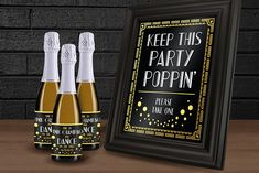 HEY THERE!  Our 1920s Printable Black and Gold Foil Champagne Table Sign is perfect for a Roaring good time as you cheers with friends at your 1920s Theme Party including; A New Years Eve Bash or 30th Birthday Party! It can be easily printed using a standard desktop printer on 8.5 x 11 (letter size) paper, or can be printed at your local print shop such as Staples or Kinkos. Your purchase includes easy assembly instructions, and a high-quality printable PDF file.  Please note: This listing…