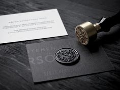 "Branding Inspiration New Corporate Identity for Hörst, designed by boutique. ""The Hörst branding positions this high-end men's clothing designer and Identity Design, Brand Identity, Bussiness Card, Grafik Design, Business Card Design, Creative Business, Stationery, Creations, Fancy"