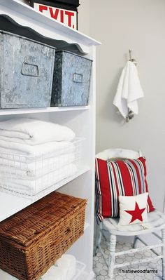 Nautical Style Bathroom....organization ideas