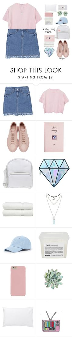 """i loved you"" by itstepna ❤ liked on Polyvore featuring Common Projects, ASOS, Jil Sander Navy, Unicorn Lashes, Linum Home Textiles, Hot Topic, Sole Society, Davines, Jigsaw and ban.do"
