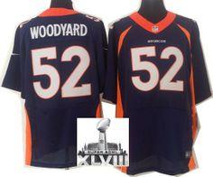 Nike Denver Broncos 52 Wesley Woodyard Blue Elite 2014 Super Bowl XLVIII NFL Jerseys New Style