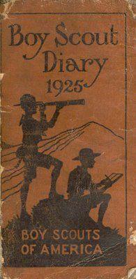 BOY SCOUT DIARY 1925: