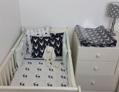 Our Little Adventure theme in Navy, Mint and Grey is perfect for any Boys Woodland Nursery!