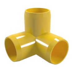 "3/4"" 3-Way PVC Elbow Fitting - Furniture Grade"