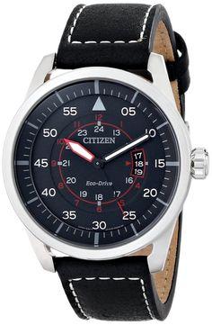 Men watches : Citizen Men's AW1361-01E Sport Analog Display Japanese Quartz Black Watch