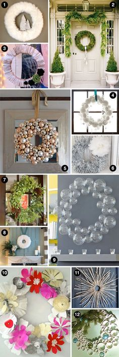 Modern Christmas Wreaths- so many fabulous ideas in this roundup.