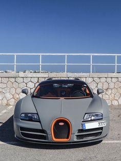Cool Matte Grey Bugatti Veyron
