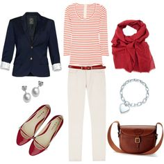 Nautical Stripes, created by bluehydrangea on Polyvore
