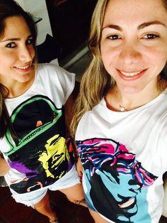 Cool friends wearing jossart tshirts
